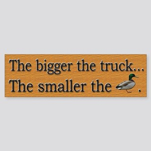 Funny Big Truck - Sticker (Bumper)