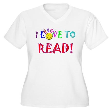 Love to Read Women's Plus Size V-Neck T-Shirt