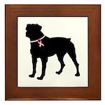 Rottweiler Breast Cancer Support Framed Tile