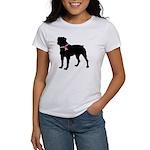 Rottweiler Breast Cancer Support Women's T-Shirt