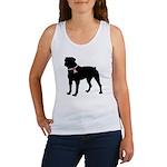 Rottweiler Breast Cancer Support Women's Tank Top