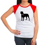 Rottweiler Breast Cancer Support Women's Cap Sleev