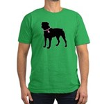 Rottweiler Breast Cancer Support Men's Fitted T-Sh