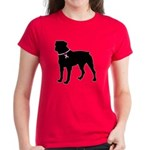 Rottweiler Breast Cancer Support Women's Dark T-Sh