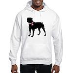 Rottweiler Breast Cancer Support Hooded Sweatshirt