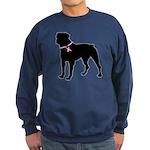 Rottweiler Breast Cancer Support Sweatshirt (dark)