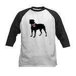 Rottweiler Breast Cancer Support Kids Baseball Jer