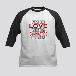 I Am In Love With Gymnastics Kids Baseball Jersey