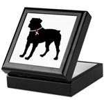 Rottweiler Breast Cancer Support Keepsake Box