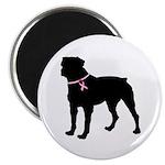 Rottweiler Breast Cancer Support Magnet