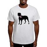 Rottweiler Breast Cancer Support Light T-Shirt