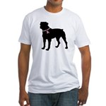 Rottweiler Breast Cancer Support Fitted T-Shirt