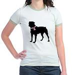 Rottweiler Breast Cancer Support Jr. Ringer T-Shir