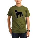 Rottweiler Breast Cancer Support Organic Men's T-S