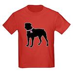 Rottweiler Breast Cancer Support Kids Dark T-Shirt