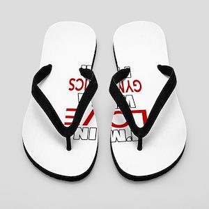 I Am In Love With Gymnastics Player Flip Flops