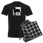Rottweiler Breast Cancer Supp Men's Dark Pajamas