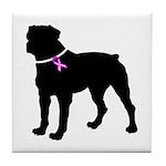 Rottweiler Breast Cancer Supp Tile Coaster