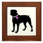 Rottweiler Breast Cancer Supp Framed Tile