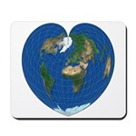 World Map Heart: Mousepad
