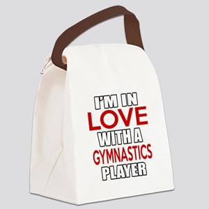 I Am In Love With Gymnastics Play Canvas Lunch Bag