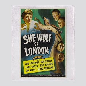 She-Wolf of London Throw Blanket