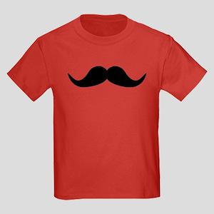 Beard Mustache Kids Dark T-Shirt