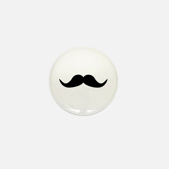 Beard Mustache Mini Button