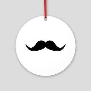 Beard Mustache Ornament (Round)