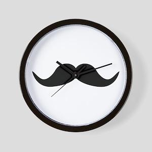 Beard Mustache Wall Clock