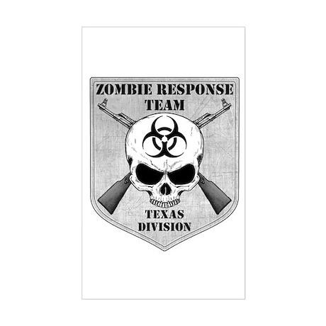 Zombie Response Team: Texas Division Sticker (Rect