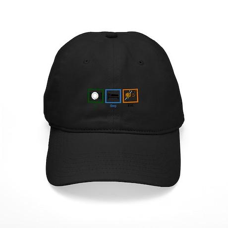 Eat Sleep Knit Black Cap