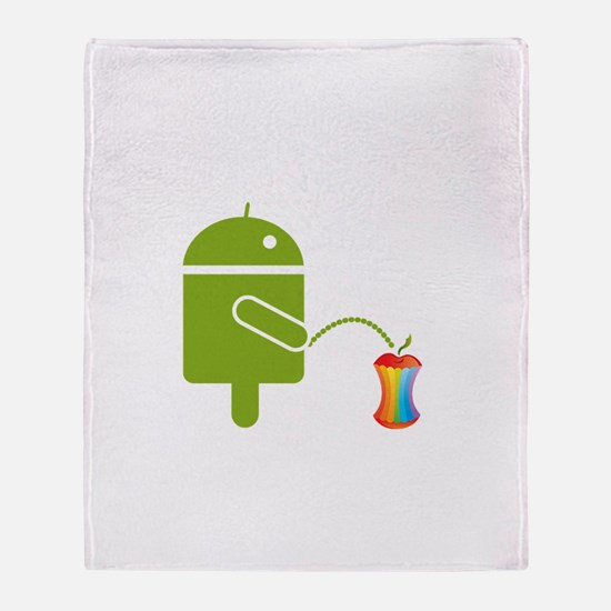 Cute Android Throw Blanket