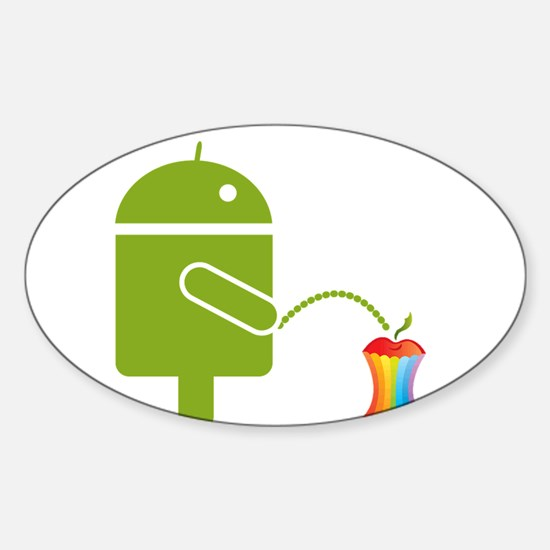 Cute Android Sticker (Oval)