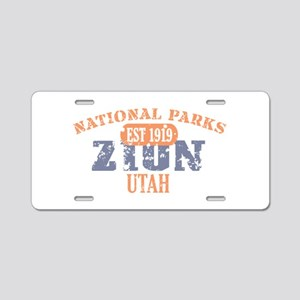 Zion National Park Utah Aluminum License Plate