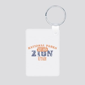 Zion National Park Utah Aluminum Photo Keychain
