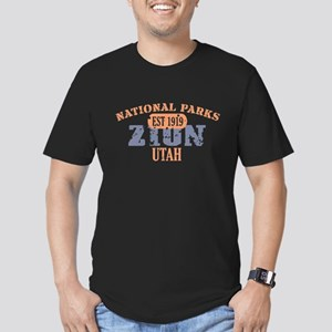 Zion National Park Utah Men's Fitted T-Shirt (dark