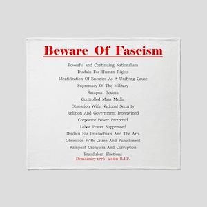 Beware of Fascism Gifts Throw Blanket