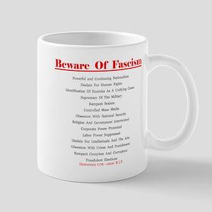 Beware of Fascism Gifts Mug
