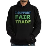 I Support Fair Trade Hoodie (dark)