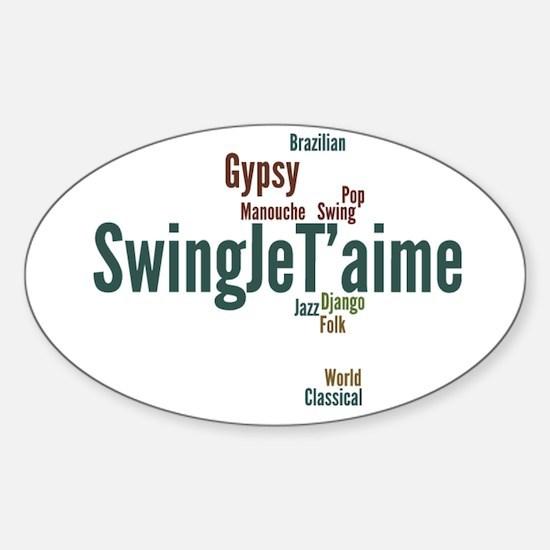 Swing Je T'aime (general) Sticker (Oval)