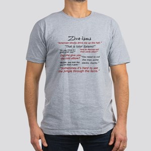 Ziva-isms Men's Fitted T-Shirt (dark)