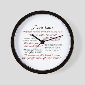 Ziva-isms Wall Clock