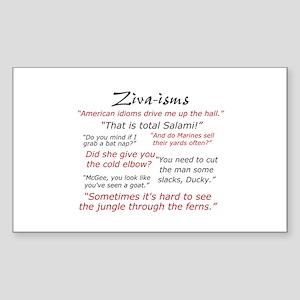 Ziva-isms Sticker (Rectangle)