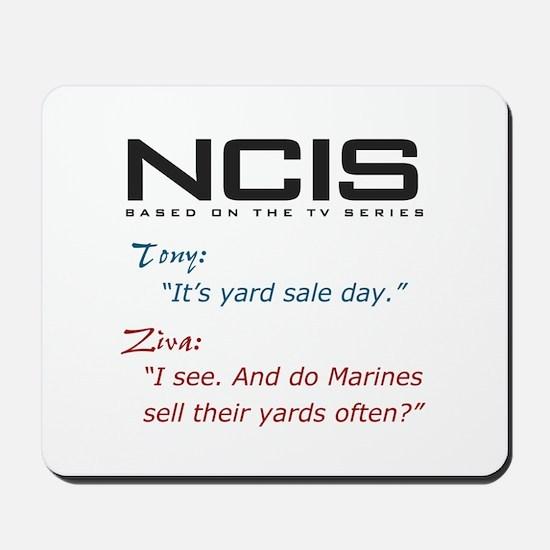 NCIS Ziva Garage Sale Quote Mousepad