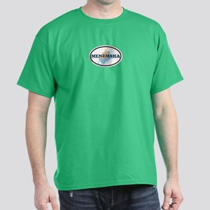 Menemsha MA - Oval Design. Dark T-Shirt
