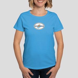Menemsha MA - Oval Design. Women's Dark T-Shirt