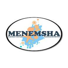 Menemsha MA - Oval Design. 22x14 Oval Wall Peel