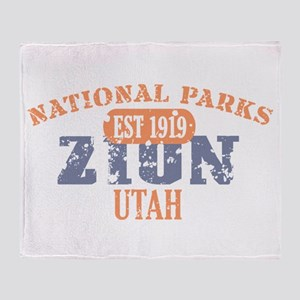 Zion National Park Utah Throw Blanket