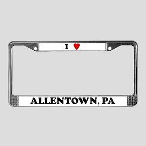 I Love Allentown License Plate Frame